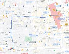名古屋駅から質トダ屋までの道順1
