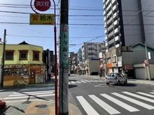 名古屋駅から質トダ屋までの道順7・たこ焼きらいおん堂・カトマンズキッチンのある交差点
